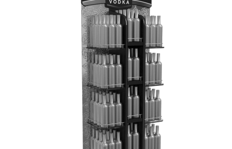 ADV alcohol beverage shelf