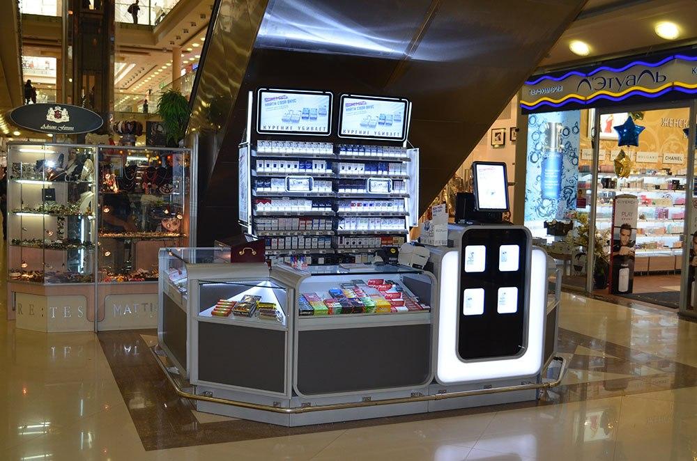 магазин в магазине рекламные дисплеи стенды табачные дисплеи стеллаж металл пластик лайтбокс ПОСМ агентства ADV Production