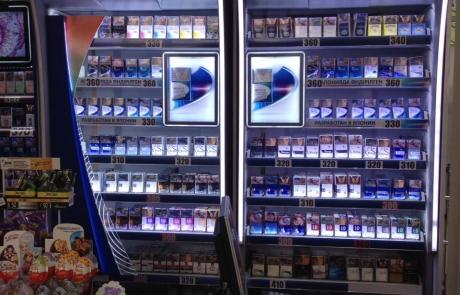 ADV Production сигаретные дисплеи черный рынок флэпы напольный диспенсер модульные сигаретные шкафы лайтбокс пушера промозона