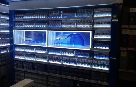 ADV Production сигаретные дисплеи черный рынок флэпы напольный диспенсер модульные сигаретные шкафы лайтбокс пушера литье