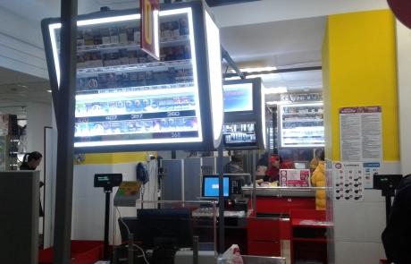ADV Production, табачный овэрхед, табачный диспенсер, навесной дисплей для сигарет пластик литье рекламное производство метал