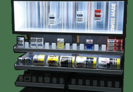 ADV Production сигаретные дисплеи напольный диспенсер модульные сигаретные шкафы лайтбокс промозона пушер металл стеллажи